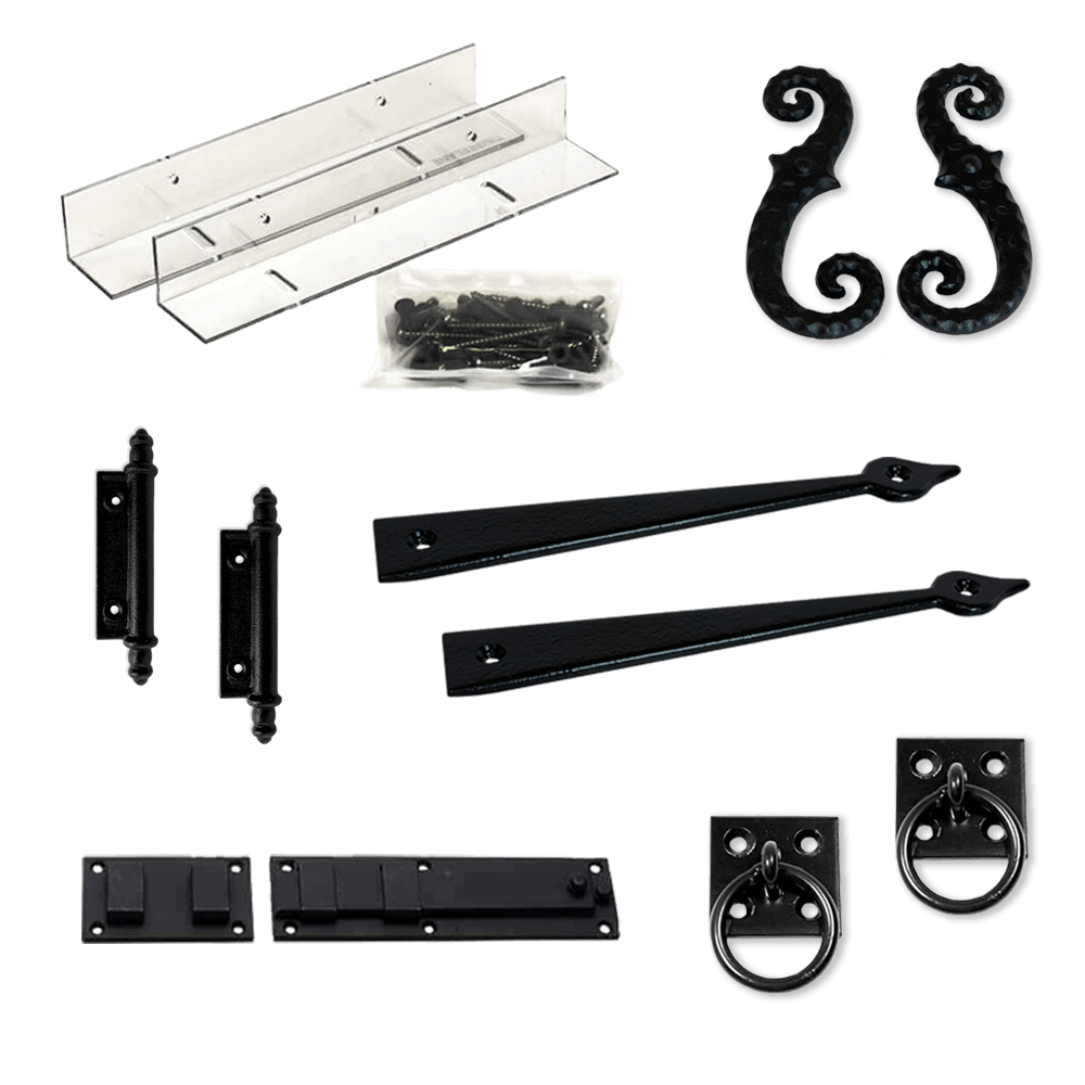 Shop Adorned Opening's fixed mount shutter hardware to add authentic styling to your personalized exterior shutters.