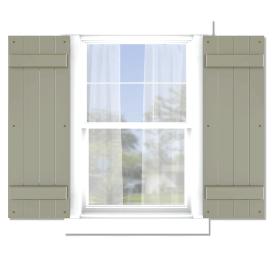 Adorned Openings offers both fixed or functional shutter hardware for your board and batten shutters