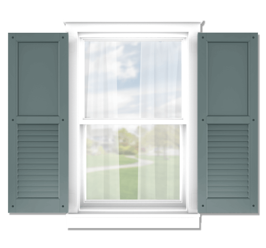 Adorned Openings offers both fixed or functional shutter hardware for your flat panel and louver combination shutters