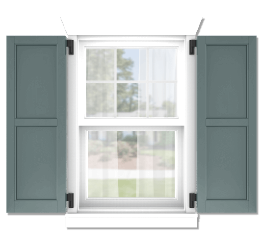 Adorned Openings offers both fixed or functional shutter hardware for your flat panel shutters