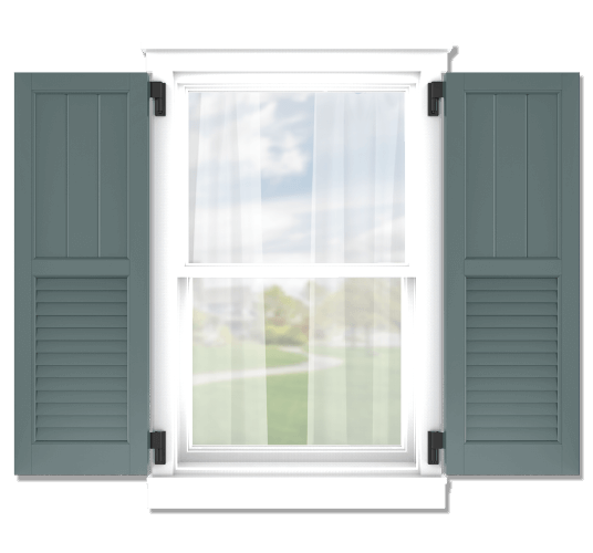 Adorned Openings offers both fixed or functional shutter hardware for your framed board and batten louver combination shutters