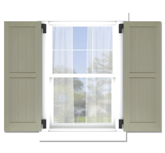 Adorned Openings offers both fixed or functional shutter hardware for your framed board and batten shutters