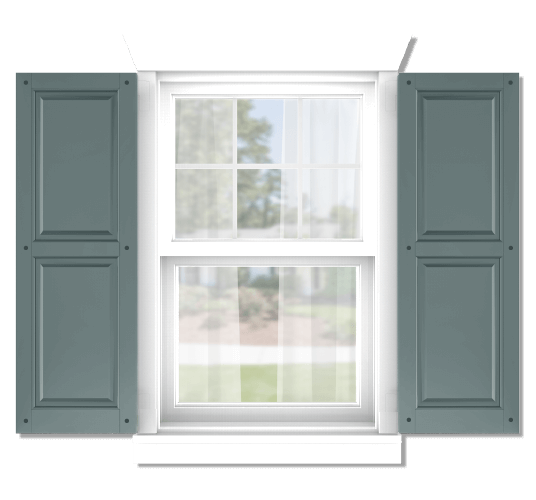 Adorned Openings offers both fixed or functional shutter hardware for your raised panel shutters