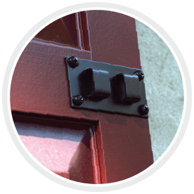Adorned Openings shutter lock set comes with all necessary installation screws for an easy install