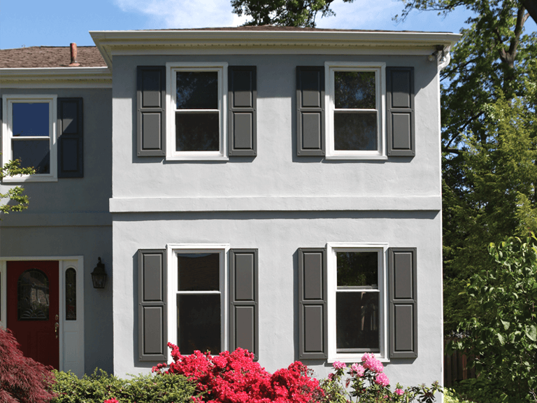 while cleaning gutters or repainting the trim around your home, quickly dust and clean your composite wood shutters