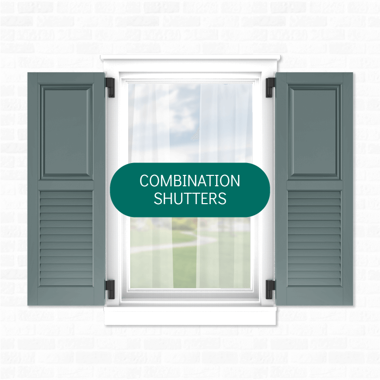 Adorned Openings' offers multiple combination exterior shutters that can be easily personalized by you.