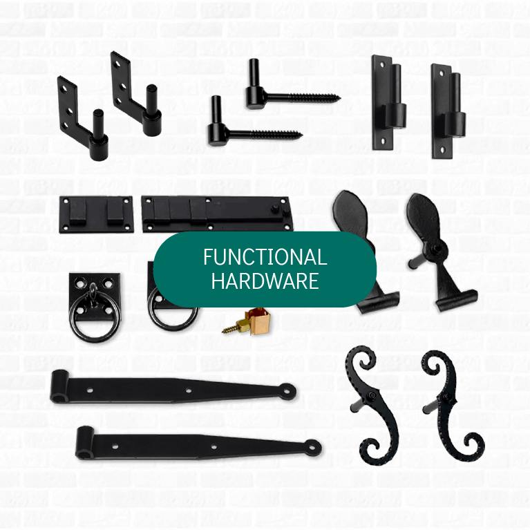 Adorned Openings' offers a wide range of functional shutter hardware to complete the look of your exterior shutters.