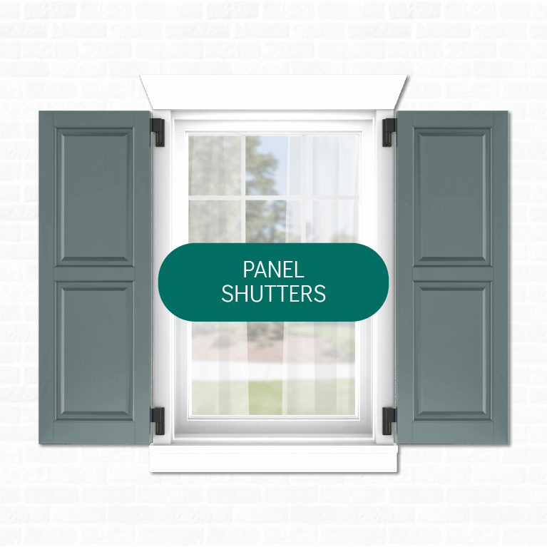Adorned Openings' offers multiple panel exterior shutters that can be easily personalized by you.