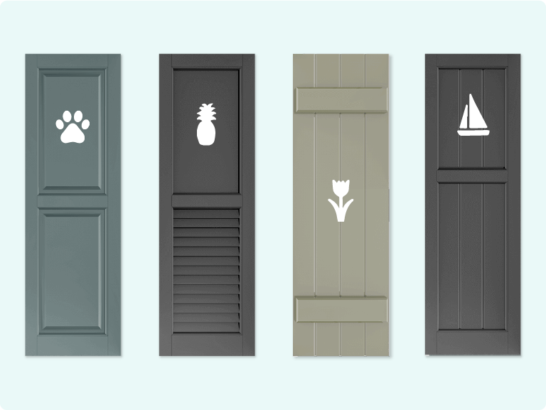 Adorned Openings offers multiple custom cutout designs to make your shutters truly unique