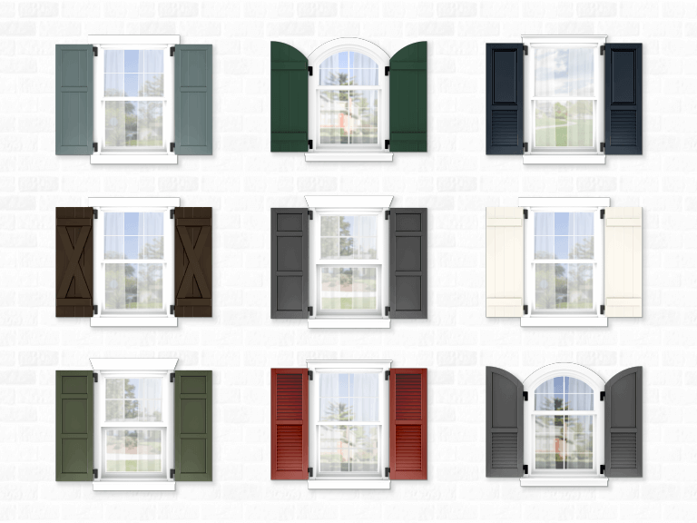 how to choose the right shape and size for exterior shutters