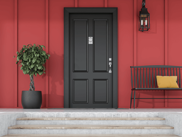 how a front door update can add texture to your home's exterior