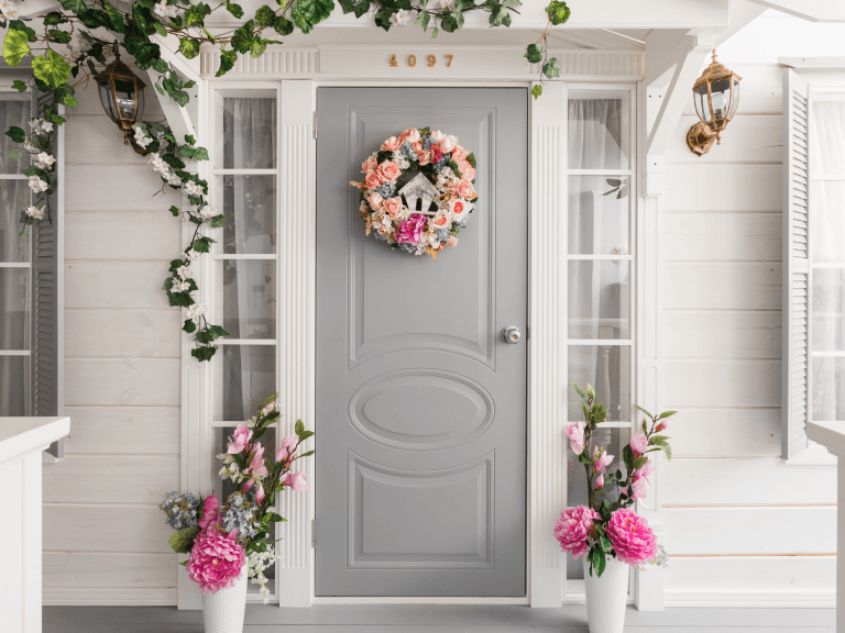 tips for styling a front door to boost your home's curb appeal