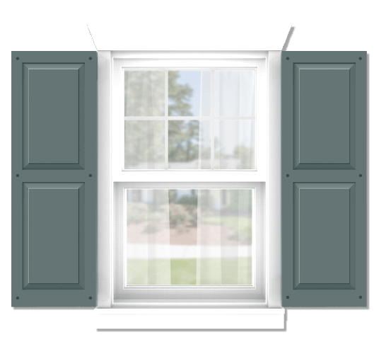 Adorned Openings offers both fixed or functional shutter hardware for your shaker panel shutters