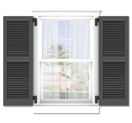 Adorned Openings offers both fixed or functional shutter hardware for your louver shutters