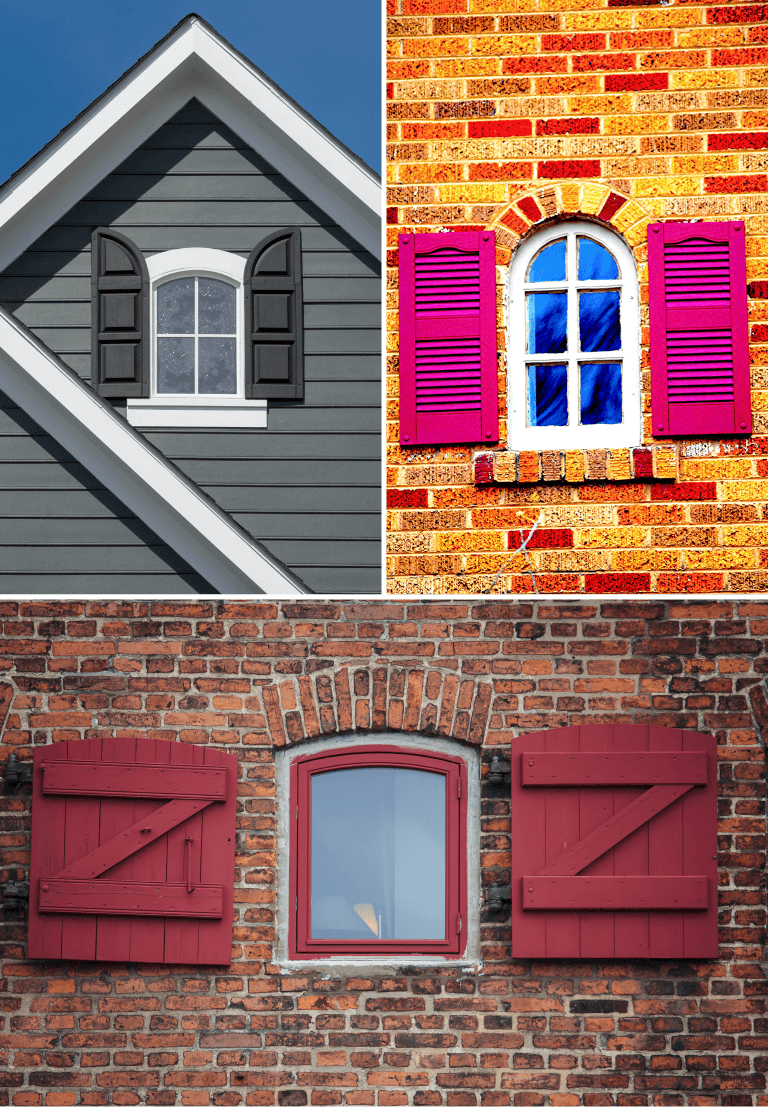 what do shutters look like when they're the wrong size